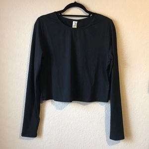 Fabletics Long Sleeve Crop Top with Open Back
